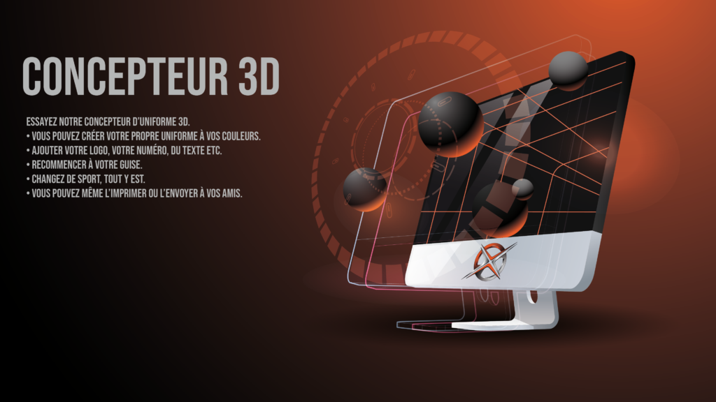 concepteur 3d, uniforme, création, fabriquer, chandail, hockey, baseball, soccer, cyclisme, conception